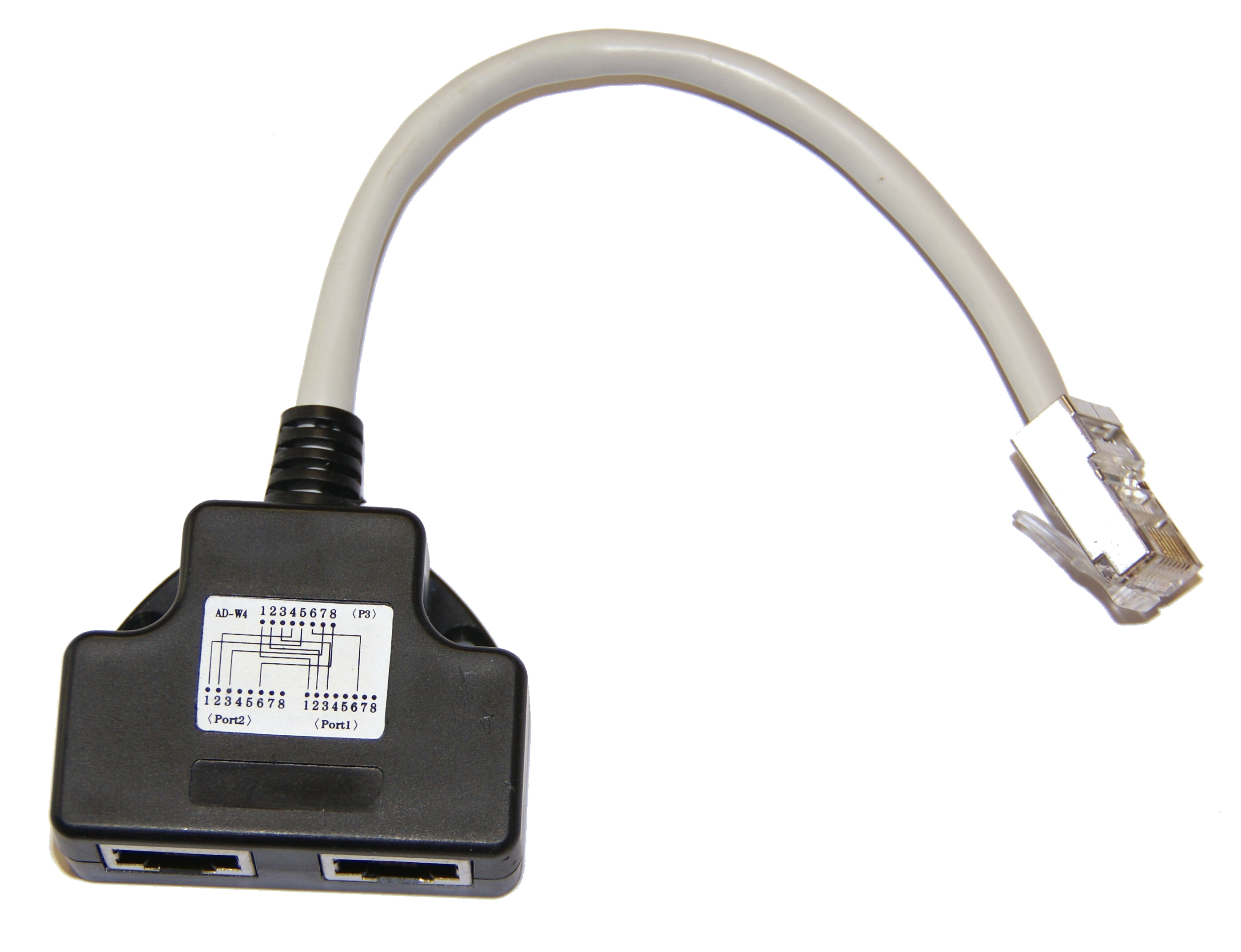 Adaptér RJ45 1x8p8c/2x8p4c Cat5 PC-TEL